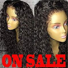 4385a8a7c Brazilian Remy Hair 130% Density Full Pre Plucked Natural Hairline Deep  Curly Long Human Hair Lace Front Wigs for African American Black Women with  Baby ...
