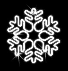 Vianočná ozdoba - snehová vločka 500mm  - OVL12-L Neon Signs