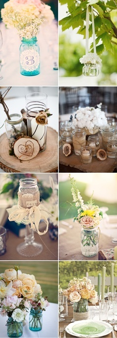 There are almost endless uses for mason jars at a wedding. All of them fabulous.