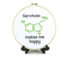 Serotonin Molecule Cross Stitch Pattern от ActsofCraftiness