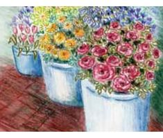 Inktense Pencils Flower Stalls Project