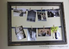 The Lady Okie: Super Easy DIY Picture Frame