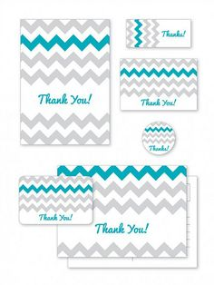 Chevron Thank You Card Freebies #givethanks #free #freebies