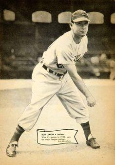 1951 Print Bob Lemon Pitcher Major League Baseball Player Cleveland Indians Pose #vintage #baseball #clevelandindians