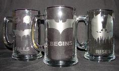$25 Legendary Batman Dark Knight Trilogy 3 Mug Set  by GNLCrafters, $25.00