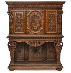 Buy online, view images and see past prices for A monumental French Renaissance revival carved oak cupboard second half. Invaluable is the world's largest marketplace for art, antiques, and collectibles. Oak, Carving, Victorian Style Furniture, Furniture, Elegant Homes, Elegant Furniture, Oak Cupboard, American Furniture, Carved Furniture