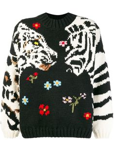 a9ca152020c Sonia Rykiel tiger embroidered sweater $656 - Buy Online AW18 - Quick  Shipping, Price Graphic