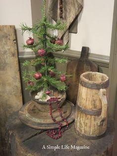 Dried Pomegranates as primitive ornaments