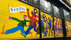 Byron Newcastle Hoarding, illustration by Alec Doherty – Graffiti World