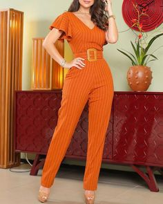 Suit Fashion, Fashion Outfits, Ankara Long Gown Styles, Stylish Dresses For Girls, Jumpsuit Pattern, Jumpsuit With Sleeves, Edgy Outfits, Colorful Fashion, Jumpsuits For Women