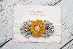 Love this shabby flower headband on #etsy