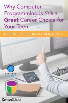 Helping Your Students Choose Computer Science Careers and why computer programming is still ag reat career choice for your teen despite overseas outsourcing. Computer Literacy, Computer Jobs, Computer Science Degree, Computer Programming, School Science Projects, High School Curriculum, School Computers, Learning Websites, School Plan