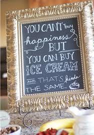 chalkboard ice cream sign - Google Search