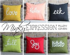 Cute Pillow Covers - $11.99 Re-purpose the old ugly pillows and add some color to the room!
