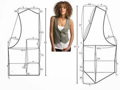 Practical Cut, Easy Planting Vest Model, molds and constructions, waistcoat free patterns Source by martili_kadin. Diy Clothing, Sewing Clothes, Women's Clothes, Dress Sewing Patterns, Clothing Patterns, Fashion Sewing, Diy Fashion, Fashion Casual, Diy Vetement