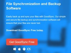 GoodSync - Free File Sync Software - The Online Information Hub Filing, Software, Free