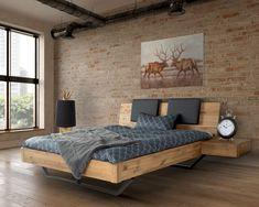 Massivholz »Dolce Vita II« Wildeiche Bett • slewo.com Master Bedroom, Bedroom Decor, Bed Frame Design, Oak Beds, Modern Room, Room Inspiration, Wood, House, Furniture