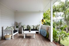 Modern coastal living at Atlantic Guesthouses Outdoor Rooms, Outdoor Living, Outdoor Furniture Sets, Outdoor Decor, Outdoor Ideas, Outdoor Gardens, Byron Bay Accommodation, Luxury Accommodation, The Atlantic Byron Bay