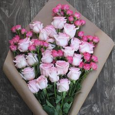 South American-raised roses from The Bouqs. All flowers are delivered to your door within four days of being cut. We also love the shabby-chic packaging and reasonable price tag ($40).