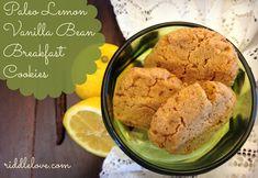 riddlelove: Lemon Vanilla Bean Breakfast Cookies ~ A Paleo, Gluten-Free Recipe