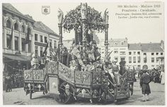 1913 - Mechelen Belgium - decorated chariot during festival (praalwagen Besloten Hof (Cavalcade 1913))
