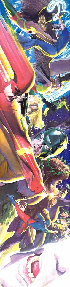 Flash and Justice League vs Secret Society of Super-Villains by Alex Ross