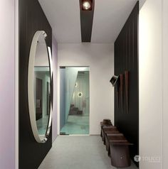 Modern Cosily Furnished Home by Studio Tolicci hall mirror wardrobe