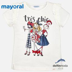 97903285d Camiseta de niña juvenil MAYORAL manga corta tres chicas Camiseta De Manga  Corta