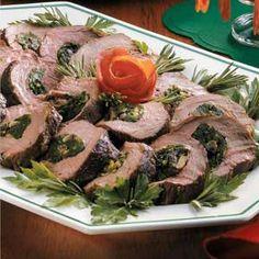 Spinach-Stuffed Beef Tenderloin