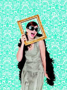 How To Take Better Party Photos: Frame Your Guests | Find 3 more fun backdrops here: http://www.rachaelraymag.com/easy-party-ideas/party-tips-ideas/how-to-take-better-party-photos