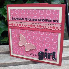 It's a girl! scrapbook card