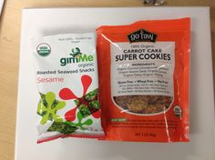 Two newly found gluten free morning snacks.
