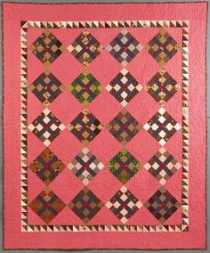 Civil War Quilts: Stars in a Time Warp 6: Double Pink