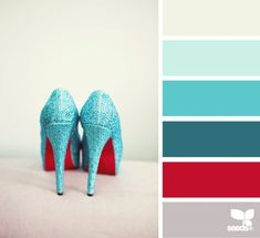 Fashion you can't miss - bright turquoise blues to red - love this...x