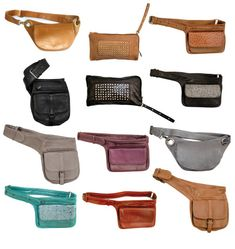 I like that this displays a range of different styles and colors and I believe this will help me decide which direction I want to go with my fanny pack. Leather Fanny Pack, Leather Belt Bag, Nike Shoes Uk, Pochette Portable, Mochila Jeans, Couture Cuir, Belt Pouch, Belt Bags, Hip Bag