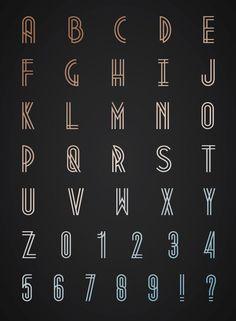 Free Font or Donate by Josip Kelava, Melbourne, Australia - Art Deco style font. www.josipkelava.com/