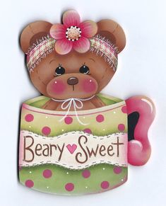 Beary Sweet Teddy Bear Painting E-Pattern by GingerbreadCuties