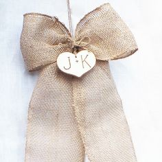 Personalized Burlap Pew Bows Burlap Wedding by ButterBeanVintage, $39.99