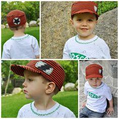 boys tshirt hat #refashion - refashionfiles.com
