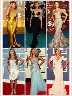 Beyonce @ The Grammys over the years