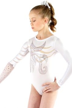Sylvia P - Womens Leotards - Long Sleeve - Brilliance White