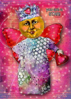 Moon Fairie: Image Credits Pringle Hill moon doll and Tumble Fish Studio background