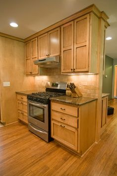 Kitchen Remodel With Green Cabinets