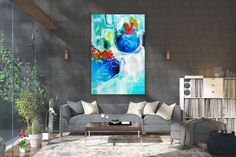 Items similar to Large Modern Wall Art Painting,Large Abstract Painting on Canvas,texture painting,gold canvas painting,gallery wall art on Etsy Large Abstract Wall Art, Large Canvas Art, Large Painting, Canvas Wall Art, Painting Art, Knife Painting, Painting Gallery, Bright Paintings, Abstract Paintings