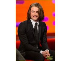 Please enjoy these photos of daniel radcliffe with long hair daniel radcliffe talks hair extensions on graham norton show pmusecretfo Choice Image