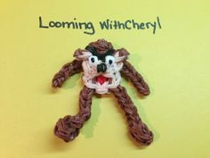 Rainbow Loom TAZ Tasmanian Devil (Looney Tunes). Designed and loomed by Cheryl Spinelli. Click photo for YouTube tutorial. 05/13/14.