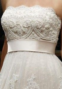 Satin belt with embroidered bodice