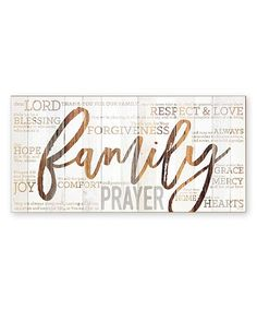 Loving this 'Family Prayer' Wall Plaque on #zulily! #zulilyfinds