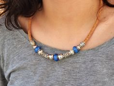 Check out this item in my Etsy shop https://www.etsy.com/pt/listing/249861451/blue-beaded-necklace-for-someone-special