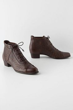 Love these lace boots from Anthropologie!